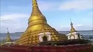 Video Golden  Buddhist Pagode sinks in river in Myanmar, Pakokku, Ayeyarwaddy River MP3, 3GP, MP4, WEBM, AVI, FLV Juli 2017
