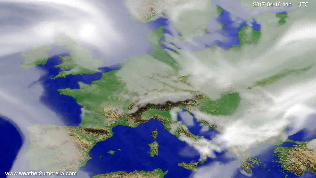 Cloud forecast Europe 2017-04-12