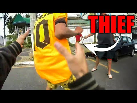 BIKER CAUGHT A THIEF | EPIC, ANGRY, KIND & AWESOME MOTORCYCLE MOMENTS | Ep. 10