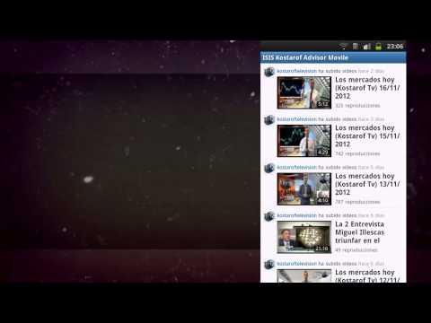 Video of ISIS Kostarof Advisor 2.2
