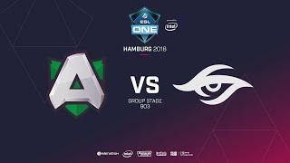 Alliance  vs Team Secret, ESL  One Hamburg, bo2, game 2 [Mila & Lum1sit]