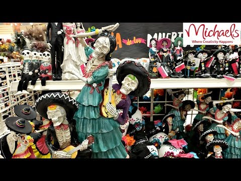 Michaels Day Of The Dead Halloween DECOR SHOP WITH ME 2018