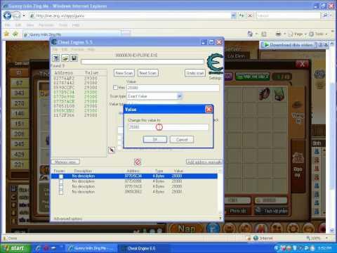 Tutorial - Hack Vàng,Lễ Kim,Huy Chương,....[Gunny] = Cheat Engine 5.5 - wWw.ShopWiXgame.tk