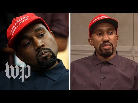 SNL's Kanye-Trump meeting vs. the real thing