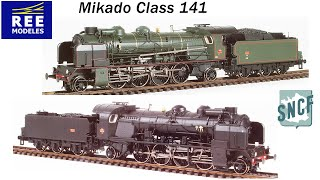 """Reynaulds is very proud and excited to introduce the new Ree Modeles PLM 141 """"Mikado"""".  We consider REE MODELES to be one of the finest producers of model trains on the market today, they have positioned themselves as the leader in French model trains. It takes a lot of time, research and effort to create a quality video so a model has to be truly special for us to go through this pain stacking process. The Ree Modeles Class 141 deserves all the attention and notoriety because the model is a truly remarkable in every way.Shortly after WWI, the French PLM Railroad was in need of a strong, four-cylinder compound, multi-purpose locomotive, with the ability to haul heavy loads on steep grades.  In 1919, several French locomotive manufactures were commissioned to build such a locomotive. A 2-8-2 """"Mikado"""" was developed, which was classified by the PLM as the 141C.  After many trial runs, the PLM was satisfied with the performance and power of these new locomotives. From 1919 to 1934, six hundred and eight locomotives were built, most of which were manufactured in France by Schneider, and several other manufactures. On January 1st, 1938, the 141C's were integrated into the SNCF.  Between 1942 and 1957 the class 141C's were reconstructed, resulting in three additional classes the 141D, 141E and 141F. The class 141's were well respected, and operated in the majority of depots all over France hauling both freight and passenger trains. This iconic French locomotive was finally retired in 1969.The PLM 141 """"Mikado"""" is a truly remarkable model. The model is highly detailed, constructed with over 500 intricate parts, and best of all, it is """"ALL METAL"""". The class 141 model comes equipped with a number of innovations including DCC synchronized cylinder smoke and sound. When you hit function 3 and 4 the locomotive starts producing a steady stream of smoke from the smoke stack as the loco starts to move the cylinders release smoke just like a real locomotive. When the locomotive gets """