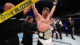 New UFC heavyweight champ Stipe Miocic can't wait to show off his new belt to his mom by @The Buzzer