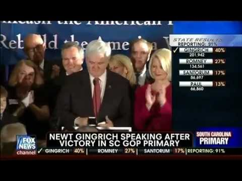 Newt's Victory Speech - South Carolina Primary Win