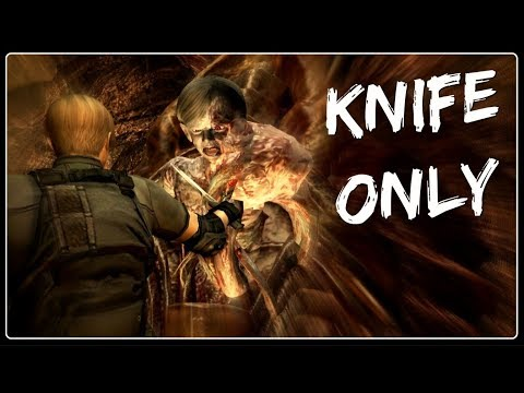 Killing Salazar with Knife Only | Resident Evil 4 UHD