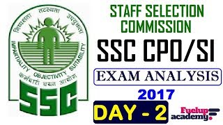 In this video we shall discuss SSC CPO SI/ASI 2017 Exam Analysis & Cut-off. Most of the exams including Bank Examinations like IBPS - PO and Clerk , RAILWAYS,SSC, BANK PO, RRB PO, RBI CLERK, SSC MTS, LIC, RBI and other competitive exams consist of questions from this topic and many students facing difficulty while solving these questions. Here, We tried to help you by providing these daily videos. You will definitely find change in your speed and accuracy while solving these type of questions & Examinations.[ DAY 1 ] SSC CPO SI/ASI 2017  Exam Analysis  Cut-off  : https://www.youtube.com/watch?v=sblRIdfbkW8&t=74s**************************************************Subscribe Us :   https://www.youtube.com/channel/UCKQ5AV1FRAVRy381SVlsDqQ?sub_confirmation=1**************************************************Like & Follow Our Facebook Page: https://www.facebook.com/fuelupacademy/Follow us on Twitter: https://twitter.com/fuelupacademyFollow us on Instagram : https://www.instagram.com/fuelupacademy/*********************************************Contact : info@fuelupacademy.com,  fuelupacademy@gmail.com*********************************************Web : www.fuelupacademy.com