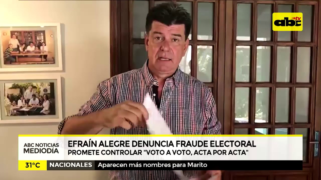 Efrain Alegre denuncia fraude electoral