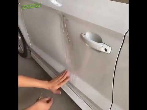 Jak wyciągnąć wgniotkę na drzwiach za pomocą taśmy