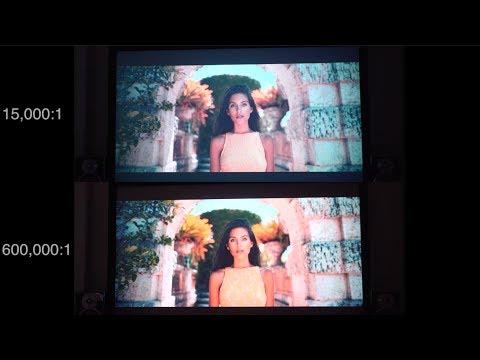 Projector Contrast Ratio Comparison (Theater Lighting)