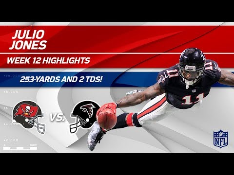 Video: Julio Jones Goes Off for 253 Yards, 12 Catches & 2 TDs! | Bucs vs. Falcons | Wk 12 Player Highlights