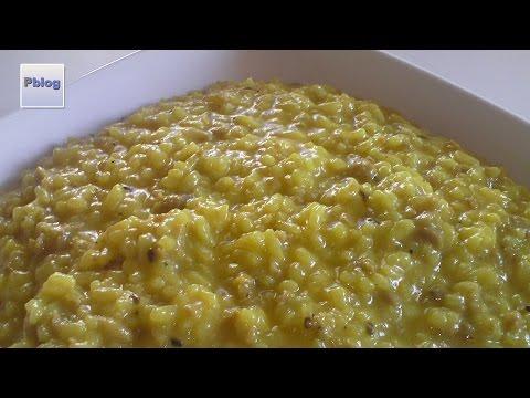 video ricetta: bimby - risotto allo zafferano e salsiccia.