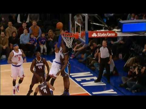 anthony - Carmelo Anthony goes up for the two-handed slam, but Victor Oladipo is there for the great rejection. Visit nba.com/video for more highlights. About the NBA:...
