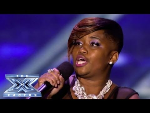 Jocelyn Hinton - Contestant Won't Stop Singing For X Factor Judges - THE X FACTOR USA 2013