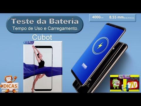 Tudocelular - Teste com a Bateria - CUBOT X18 Plus 4G Smartphone