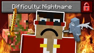 Beating Minecraft On Nightmare Difficulty