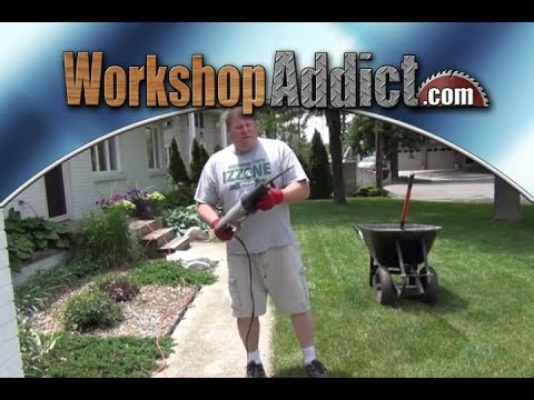 Landscaping Trick --- Lawn edging with a reciprocating saw (видео)