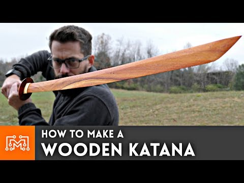 Wooden Katana from hardwood flooring
