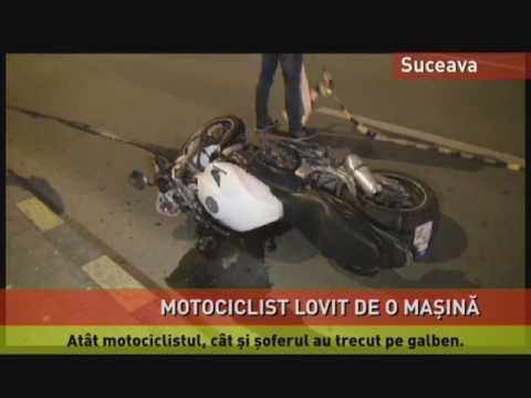 Motociclist accidentat grav la Suceava