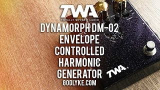 """http://www.godlyke.com/totally-wycked-audio-effects-pedals/hand-built/dynamorphGuitar demo 0:00 - 6:05Bass jam 6:05 ...""""If you've grown bored with the status quo of disappointing drives and flatulent fuzzes, then plug into the DM-02 Dynamorph™ and witness your tone transform from an inchworm into a 600-Lb. mutant metallic Butterfly – with teeth.""""I don't think I can sum up Totally Wycked Audio's Dynamorph better than that. It's some crazy fun fuzz action, that's for sure. It works fabulously with bass too, thanks to the Ametaboly control that lets you mix dry with wet signal. Fly your freak flag and check out the Dynamorph DM-02.Today's tools:Guitar: 2016 Ernie Ball Music Man Cutlass (stock) & 2016 Ernie Ball Sterling RAY-34 bass (stock).Amp: Fractal Audio Axe-FX II XL+ running '65 Twin and Ampeg SVT sims.Extra effects: Reverb, delay, chorus.. Axe-FX II XL+Cables: ProvidencePower Supply: Voodoo Lab MONDOMic: Samson Airline77 (me)Camera: Canon 60D (me) and Nikon D5100 (pedal)Soundcard: AVID Mbox Pro 3 (for recording) & Fractal Audio Systems Axe-FX II XL+ (mixing and bouncing).Computer: Apple iMac 27"""" i7 3.4 GHz 16 GB RAMSoftware: Logic Pro X, Waves L3-16 Limiter (to keep levels in check at output), Apple Final Cut Pro X (video editing and Youtube compression)."""