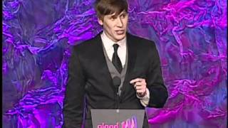 Dustin Lance Black Accepts the Award for 8: The Mormon Proposition at GLAAD Media Awards