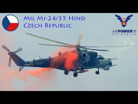 A Mil Mi-24/35 Hind of the Czech...