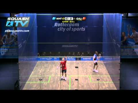 Squash : Nick Matthew v Gregory Gaultier : 2011 PSA WORLD SQUASH OPEN Final Highlights