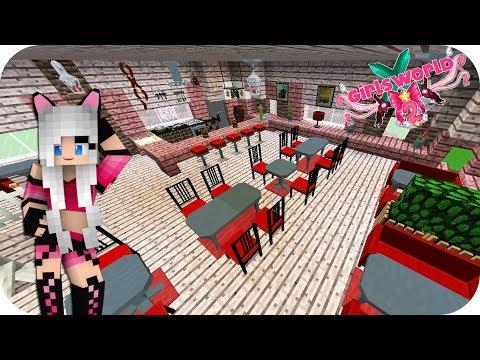 DECORANDO LA RECEPCIÓN Y EL 1º PISO DEL RESTAURANTE!!- Girl's World 2 Minecraft Ep 40