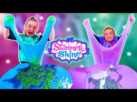 SLIME De SHIMMER And SHINE!! Las Ratitas!! SaneuB