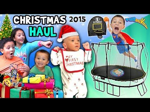CHRISTMAS HAUL 2015 w  SNOW!!! Surprises!! FV Family X-Mas Holiday Vlog