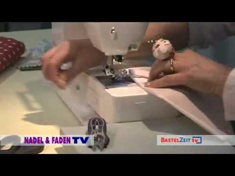 Bastelzeit TV 31 - Nadel & Faden / Stoffwimpel mit Rosen und Stickerei