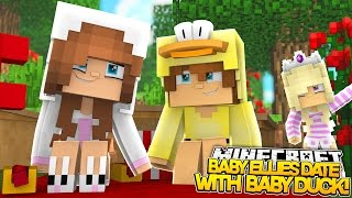 Minecraft Little Kelly : BABY ELLIE GOES ON A DATE WITH BABY DUCK! (Roleplay)