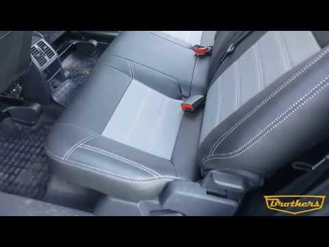 """Чехлы на Opel Zafira B, серии """"Premium"""" - серая строчка"""