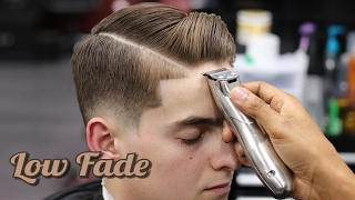 Download Video HAIRCUT TUTORIAL: COMBOVER | LOW FADE | HARD PART | BLOW DRY & STYLE MP3 3GP MP4