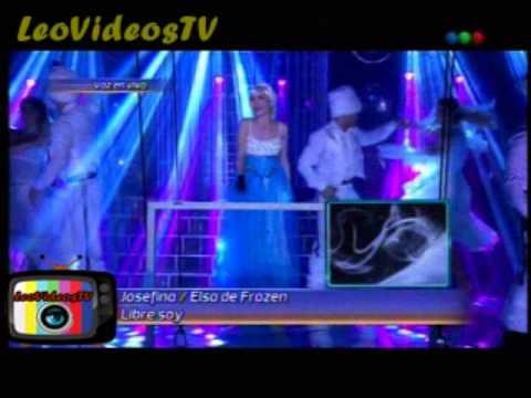 Josefina scaglione es Elsa de Frozen en Tu cara me suena 3 #GH2015 #GranHermano