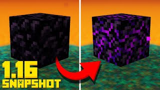 NEW Snapshot CRYING Obsidian Block! Target Block (Minecraft 1.16 Update 20w09a)