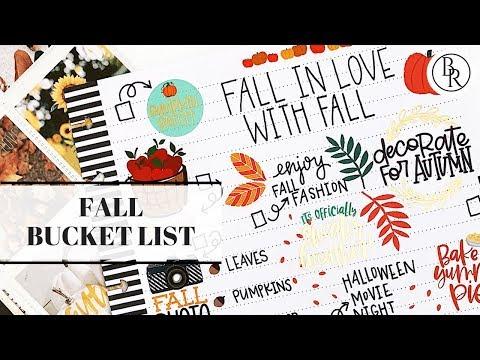 Fall Bucket List | Plans by Rochelle