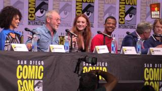 see the Game of Thrones panel from San Diego Comic-Con 2017, with host Hodor himself -- actor Kristian Nairn and the cast Gwendoline Christie, Jacob ...