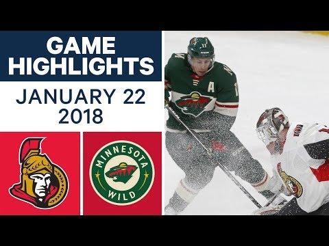 Video: NHL Game in 4 minutes: Senators vs. Wild