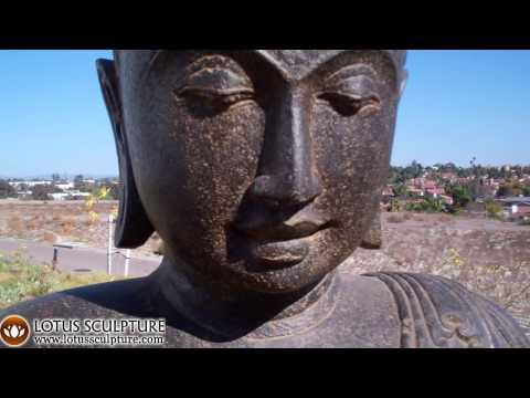 SOLD Stone Alms Bowl Buddha Statue 42