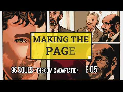 96 SOULS Page 5 Narrated Time Lapse Speed Coloring | How to Make a Sequential Comic Page Tutorial