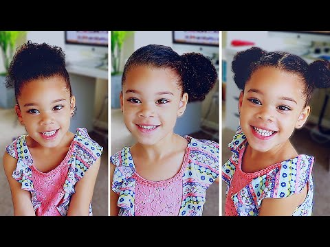 Curly hairstyles - 6 HAIRSTYLES FOR CURLY MIXED HAIR  Easy Toddler Curly Hair Tutorial