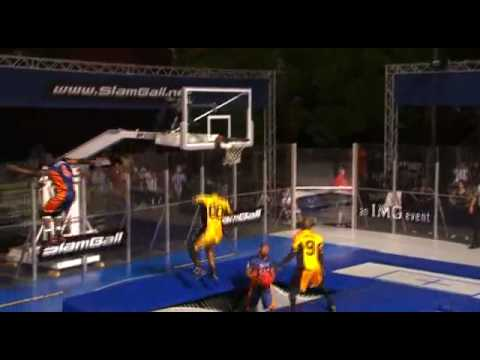 ball - What do you get when you mix the sport of basketball and trampolines? SLAM BALL.