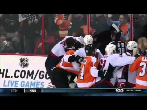 Washington Capitals VS Philadelphia Flyers Brawl – November 1st, 2013
