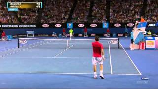 Federer would have won if there wasn't that stupid 30mins break for fireworks. Because Federer lost I will not upload in 1080p.