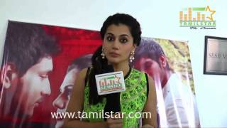Taapsee Pannu at Vai Raja Vai Movie Press Meet