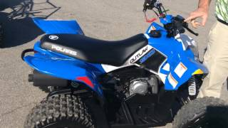 1. 2014 Polaris Outlaw 90 walk around.