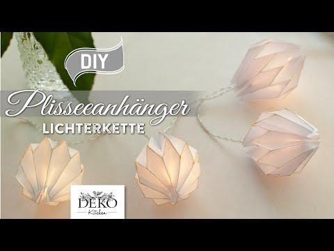 DIY: edle Lichterkette mit Plisseeanhängern aus DIN A4 Papier [How to] Deko Kitchen